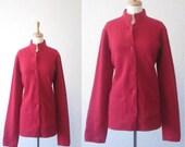 SALE 35% off//vintage 1960s// color me red wool pocket sweater