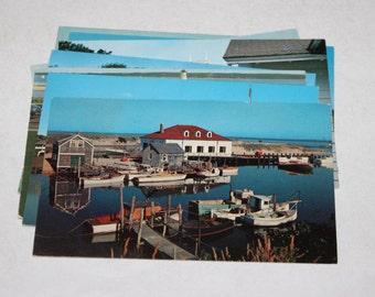 8 Vintage Martha's Vineyard Massachusetts Chrome Postcards Blank - Travel Themed Wedding Guestbook