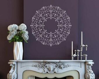 San Bartolo Medallion Ceiling Stencil for DIY Craft Home Decor