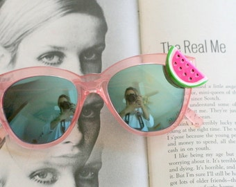 The Fruity WATERMELON Sunglasses....mirrored sunglasses. retro. cat eye. urban. hipster. kitsch. shades. summer. meow. boho. sunnies. hippie
