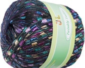 Twinkly Ladder Trellis Yarn col 810 peacock 167 yrds free shiping  NEW Arrival