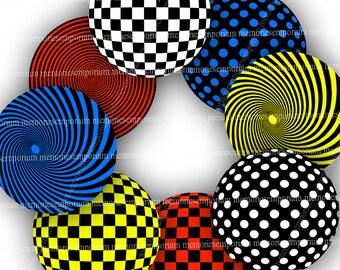 Pop Art Sixties Mod Art Circles 1960s Psychedelic 60s Retro Digital Paper Geometric Vintage Swinging Sixties Patterns Printable Download 694
