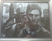 The Walking Dead Daryl Dixon Norman Reedus Glass Etching #2