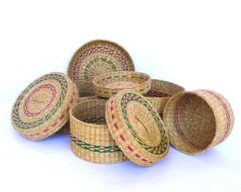 VINTAGE NESTING BASKETS/ Jewelry Baskets