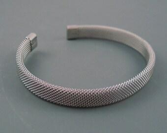 Stainless Steel Mesh Cuff Bracelet Blank, Simple Bracelet Blank