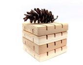 "4 SQUARE Cedar 3""x3"" Spa Soap Decks    Natural Wood    Soap Savers    Gift Ideas    House Warming Gift"