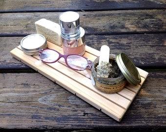 "XL Cedar 6x12"" Natural Wood Spa Soap Deck || Custom Sizing || EXTRA LARGE || Ecofriendly || Spa Essentials"