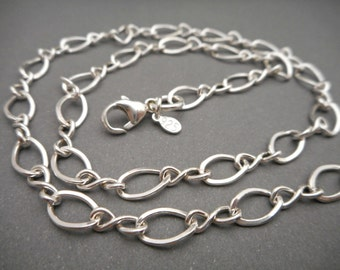 Sterling Silver Figure 8 Anklet Chain - .925 Silver - Ankle Bracelet - Beach Anklet - Silver Anklet - Gift for Her
