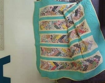 Retro style lap quilt