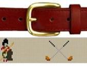 Golf Needlepoint Belt