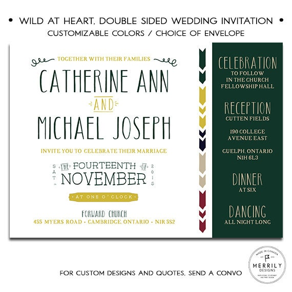 Handwritten Wedding Invitations Envelopes: Handwritten Fonts Modern Wedding Invitation Set Fun-loving