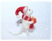 READY TO SHIP Felted mouse, mouse miniature, christmas gift