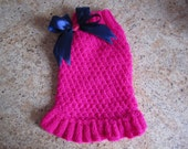 Dog Sweater Hot Pink   By Nina's Couture Closet