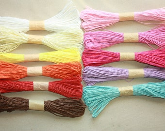 Yellow Paper Twine = 30 Yards = 27 meters for weddings, crafting, gift wrapping, packaging