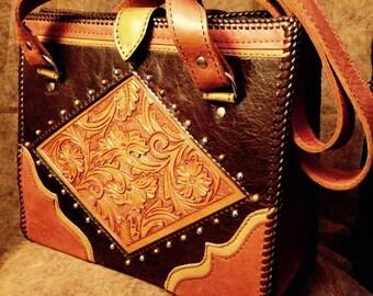 Diamond-Panel Shoulder Bag
