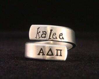 Alpha Delta Pi Wrap Ring - Official Licensed Product for ADPi