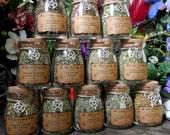 Set of Witch's Herbs Jars, Sacred Herbs, Wiccan Herb Jars, Herbal Witchcraft, Hoodoo Herbs, Witch's Cupboard Jars, Corked Herb Jars