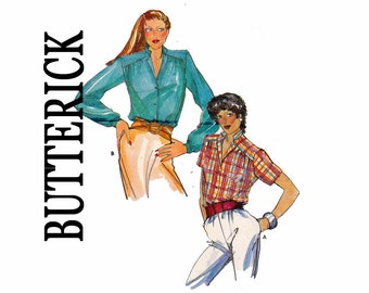70s Blouse Fast & Easy UNCUT Vintage Sewing Pattern Butterick 6951 Size 16 Bust 38 or Size 18 Bust 40 1970s Top with shoulder yokes