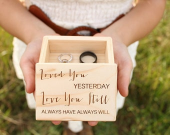 Engraved Ring Box Rustic Wood Ring Box Ring Bearer Box Ring Keepsake Box Rustic Wedding Ring Box