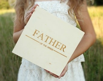 Father Of The Bride Gift Groomsmen Gift Cigar Box Custom Engraved Box DownInTheBoondocks