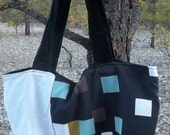 Black, White and some Color Rescued Futon Cover Sample Washable Market Bag Shopping Tote