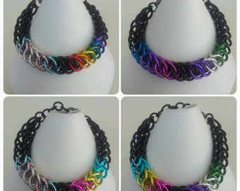 Identity Combination bracelets - Large Half Persian - Anodized Aluminum Chainmaille Jewelry