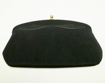 Vintage Purse Black Wedding Evening Prom Opera Clutch Gift for Her