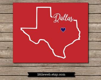 Dallas, Texas Southern Methodist University Printable, SMU Mustangs Dallas, Texas Art Print