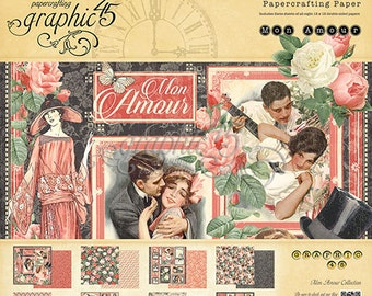 """Graphic 45's """"Mon Amour"""" Collection 12x12 Pad"""