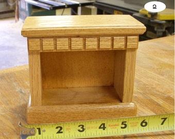 barbie size oak edwardian bedside table / nightstand