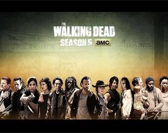 The Walking Dead Cast Season 5   24 x 36 inch poster  