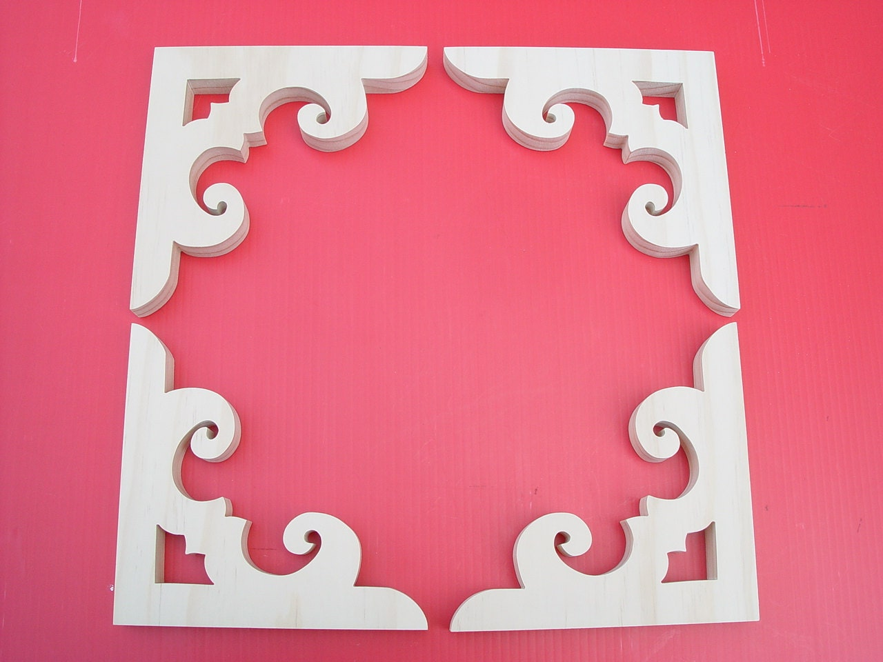 Victorian gingerbread screen door brackets one set of 4 ea for Gingerbread trim for sale