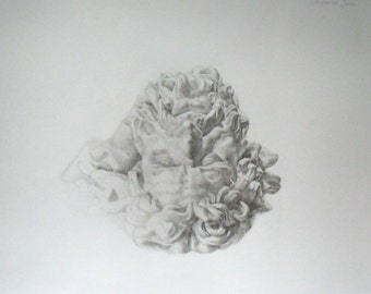 Laocoon. Original Pencil drawing.