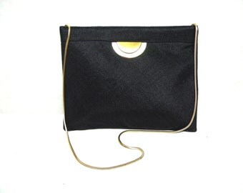 Black Reva Handbag Purse Clutch