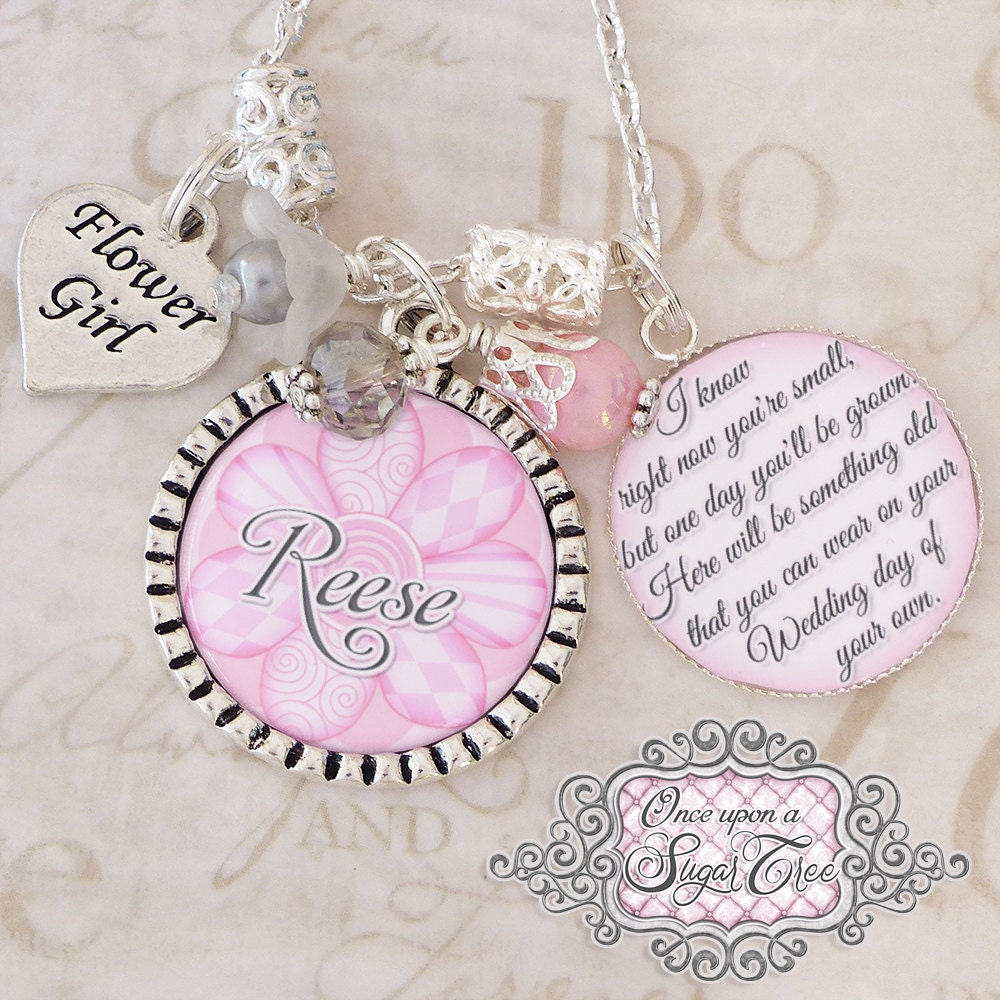 STEP DAUGHTER WEDDING Gift Personalized Wedding Necklace