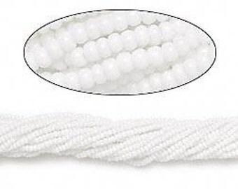 Preciosa Czech Seed Beads 11/0 Opaque White