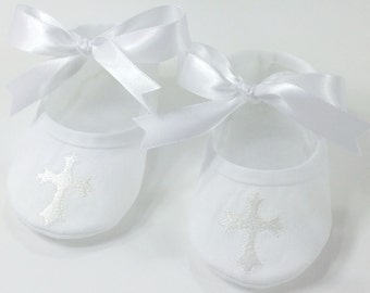 Baby Girl Christening Shoes- Baptism Shoes for Girls- Newborn Baby Girl Shoes- Baby Shower Gift- Girl Baptism Shoes- Baby Shoes- Keepsake