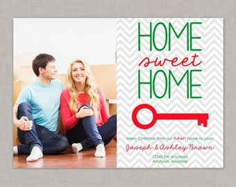 Christmas New Home Announcement, New Home Announcement, Moving Announcement
