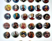 Buy 5 Get 1 FREE--Comic Pin Back Buttons Featuring Captain Marvel Carol Danvers Ms Marvel
