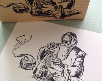 Chemist Wood Mounted Rubber Stamp 2158U