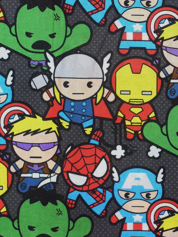 Marvel Kawaii Super Heroes Fabric Spider Man Hulk Captain