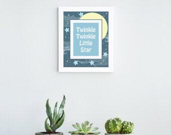 Twinkle Twinkle Little Star Print