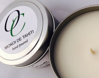 MONOI DE TAHITI//Highly Scented Soy Candle 6oz Tin