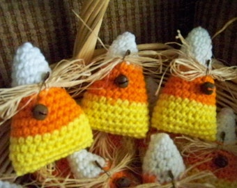 Crocheted Candy Corn Bowl Fillers