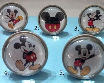 Superb Mickey Mouse Knobs / Bedroom Dresser Knobs / Glass Nursery Drawer Knobs / Pulls  Handles /