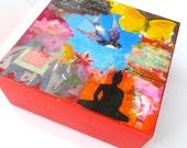 "Mini art block ""Let your Spirit Start to Soar"" 4x4"""