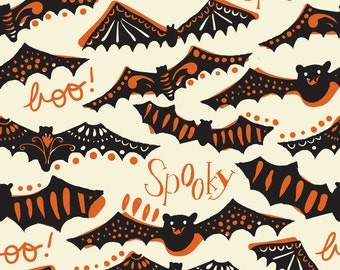 Spooktacular Eve Gone Spooky in Ivory, Maude Asbury, Blend Fabrics, 100% Cotton Fabric, 101.107.08.1