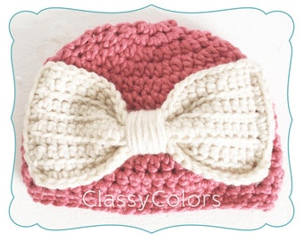 COUNTRY CORA : baby girl crochet hat in size 0-3 months