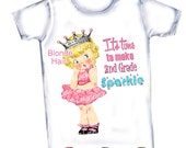 Back to School It's time to make 1st 2nd,3rd,4th,5th Grade Sparkle etc...T-Shirt,Tank or Onepiece
