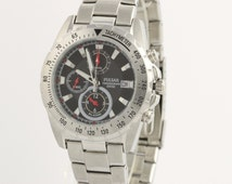 Pulsar Chronograph Men's Watch - Stainless Steel Sport Box & Papers L1922